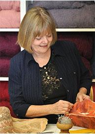 Anne Working With Felt